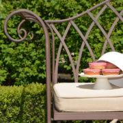 Garden bench metal