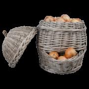 Panier à oignons gris