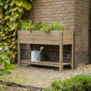 Bruin houten kweektafel L