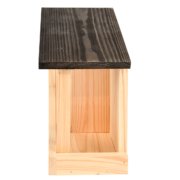 Birdhouse and bird table 2 in 1