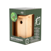 Great tit bird house in gift box
