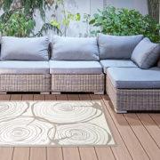 Gartenteppich Jahresringe rechteckig