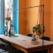 Support décorations table noir