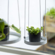 Round window hanging trays S