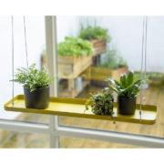 Rechthoekig gouden plantenplateau L