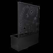 Bloembak met trellis voorzien van bloemendesign