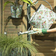 Rose print outdoor watering can