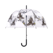 Transparent umbrella 2 sided birds