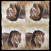Paper napkins lion 33x33cm