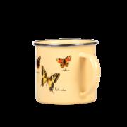 Tasse métal émaillé papillons