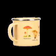 Tasse métal émaillé champignons