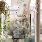 Tableau en verre herbes de cuisine