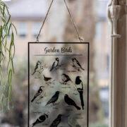 Glas Hängendes Bild Vögel